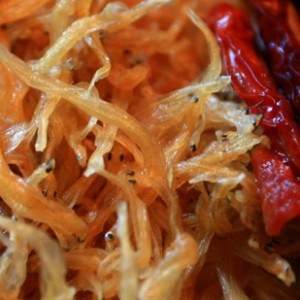 Dried fish with red chilli
