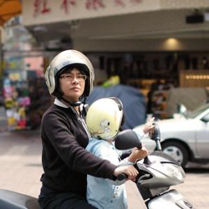 A mother biker, Tai Chung, Taiwan