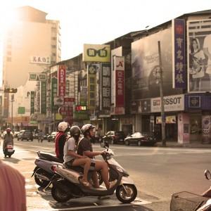 Bikers in Tai Chung, Taiwan
